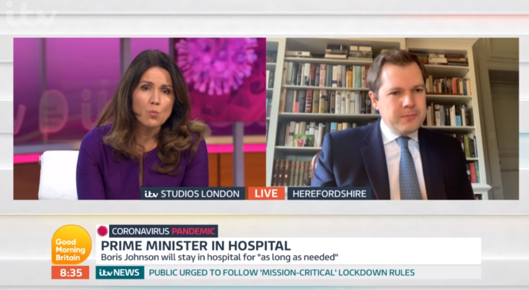 Robert Jenrick on Good Morning Britain. Coronavirus: UK lockdown 'could end in weeks' amid claims Treasury wants economic shutdown over by June