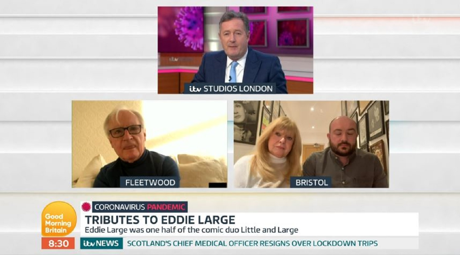 Syd Little breaks down talking about beloved comedy partner Eddie Large live on Good Morning Britain