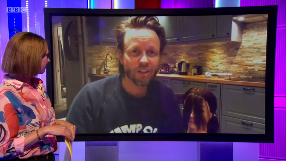Hairdresser on The One Show