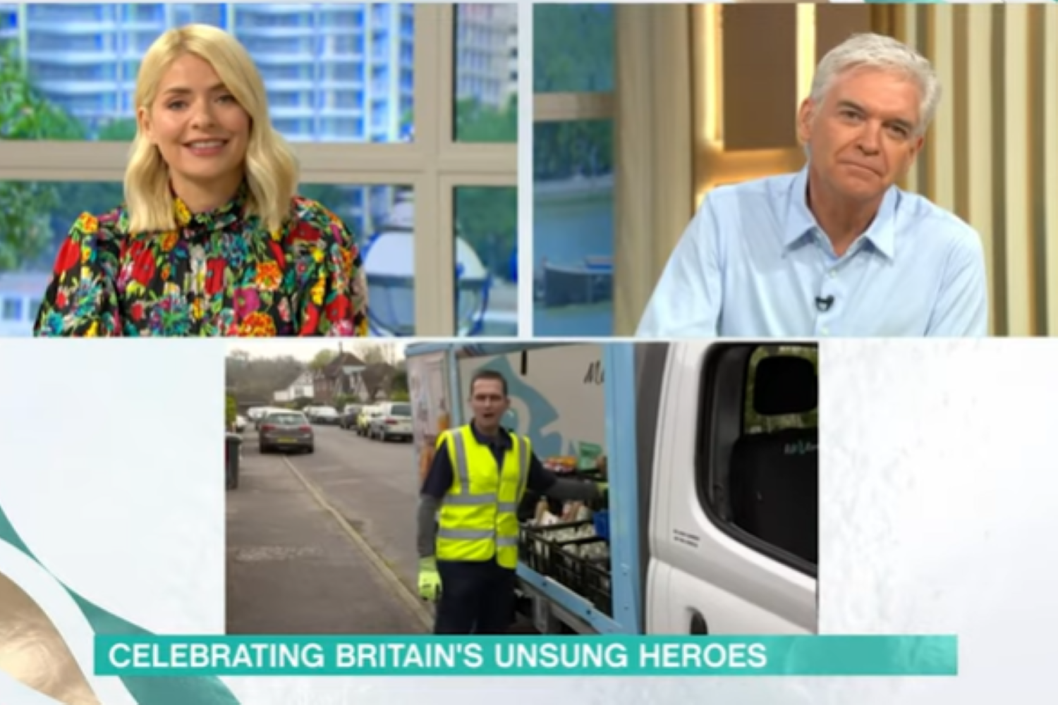 This Morning viewers in hysterics as customer yells at milkman on live TV