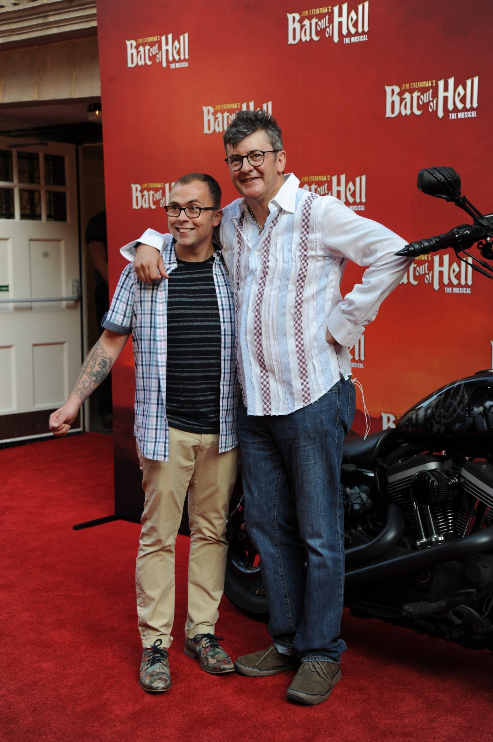 Joe Pasquale and son Joe Tracini