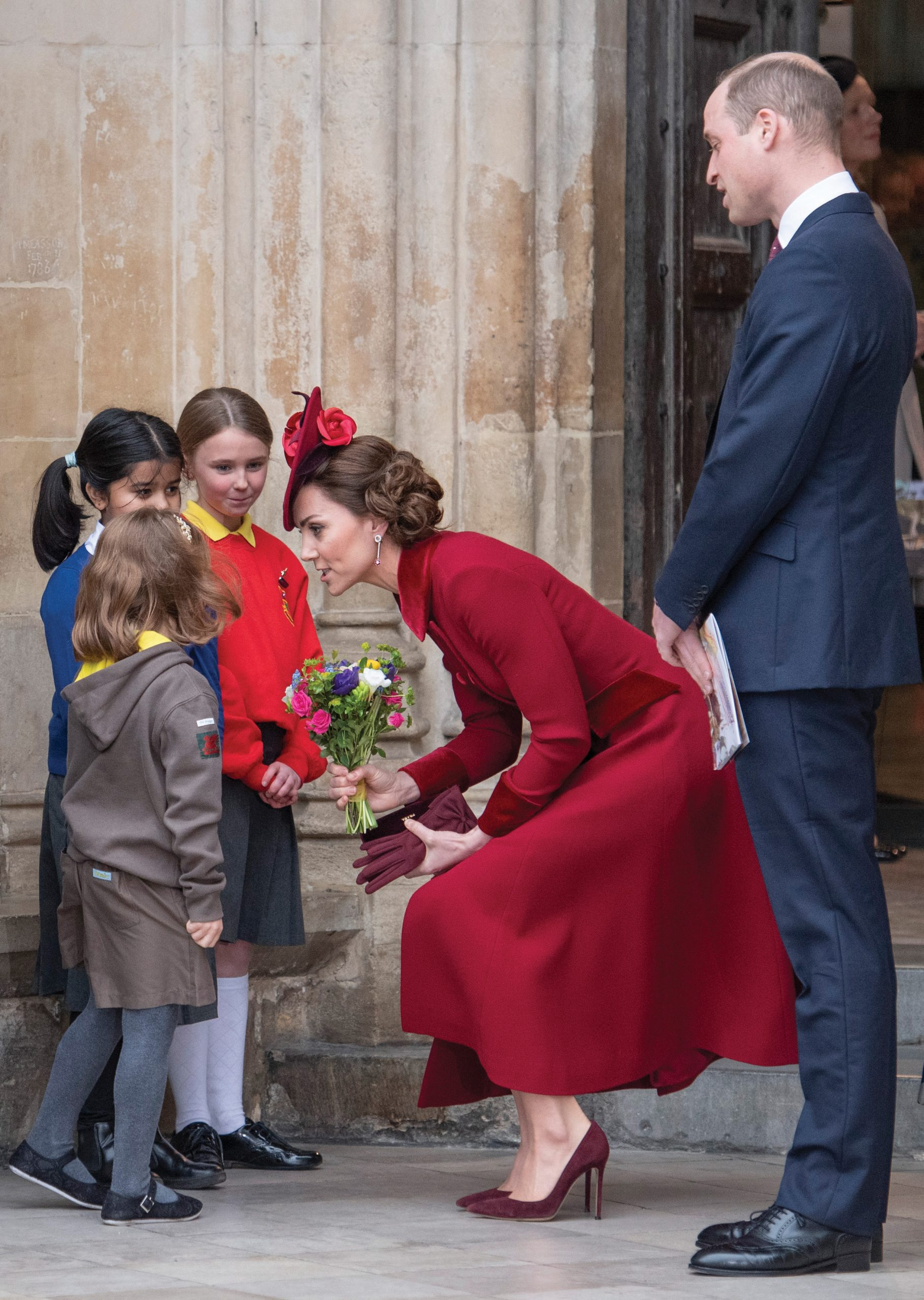 The Duke and Duchess of Cambridge at the commonwealth day ceremony