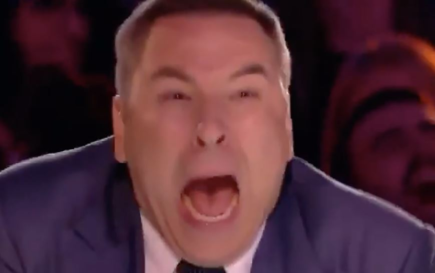 BGT fans 'never seen David Walliams so scared' as he screams and jumps from his seat in tonight's show