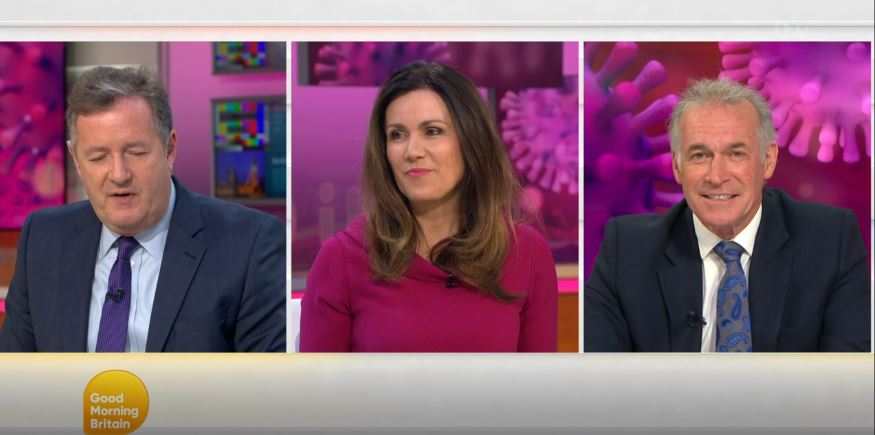 Piers Morgan and Dr Hilary Jones CLASH over UK's lockdown on Good Morning Britain