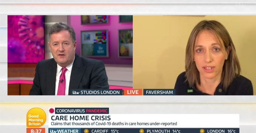 Helen Whately and Piers Morgan on GMB