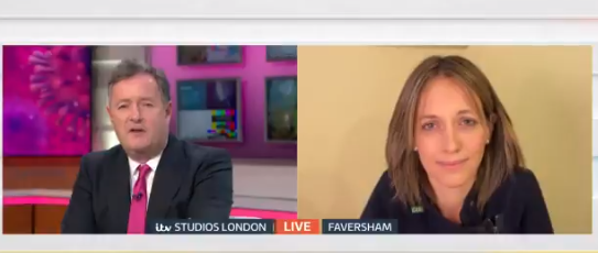 Piers Morgan Helen Whately Good Morning Britain Credit: ITV