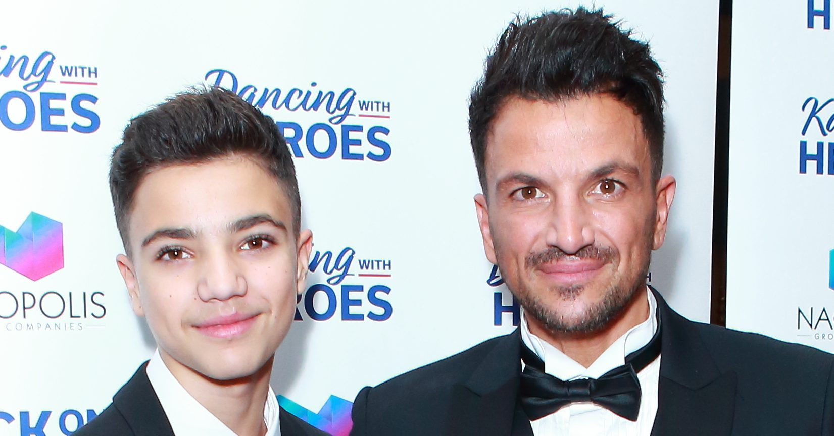 Peter Andre gives son Junior a lockdown haircut as the singer responds to fans who urge him to shave his
