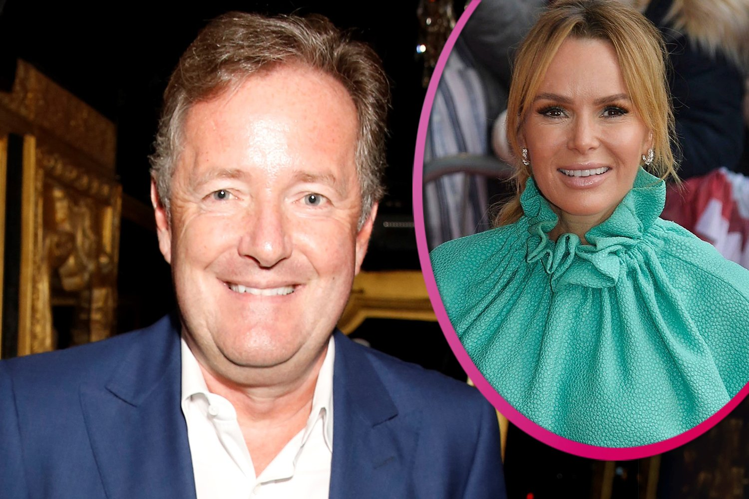 Piers Morgan and Amanda Holden let loose during boozy lunch on holiday in France