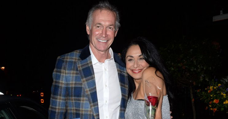 Dr Hilary Jones and wife Dee