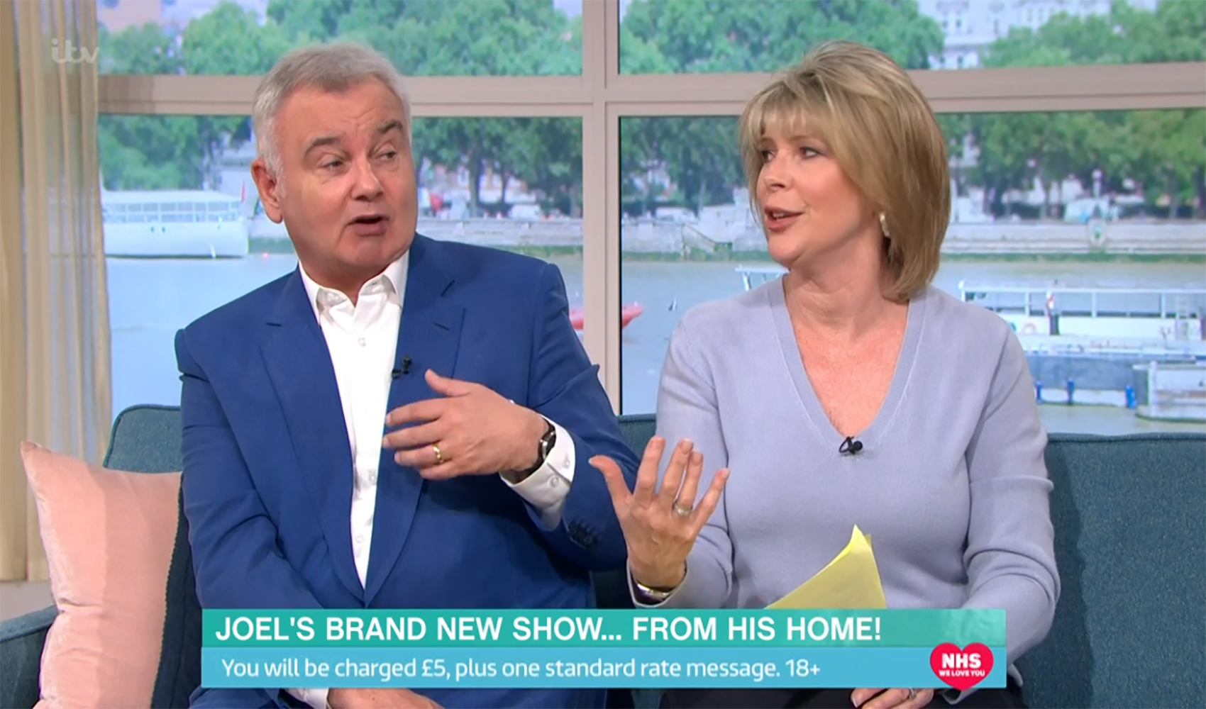 Eamonn Holmes makes dig at Ruth Langsford for not taking his last name at their wedding
