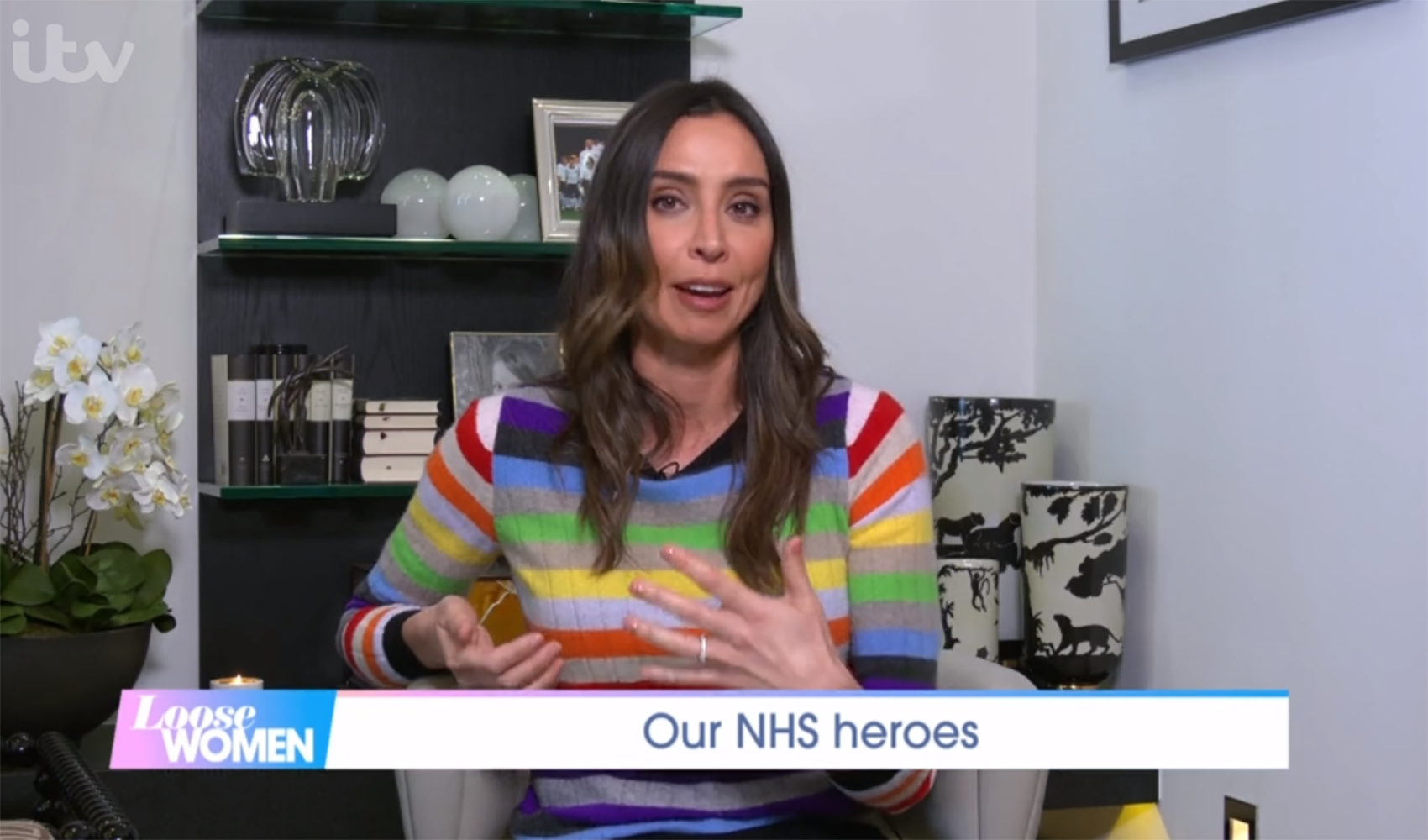 Christine Lampard tears up as she pays tribute to sister's friend working on NHS frontline