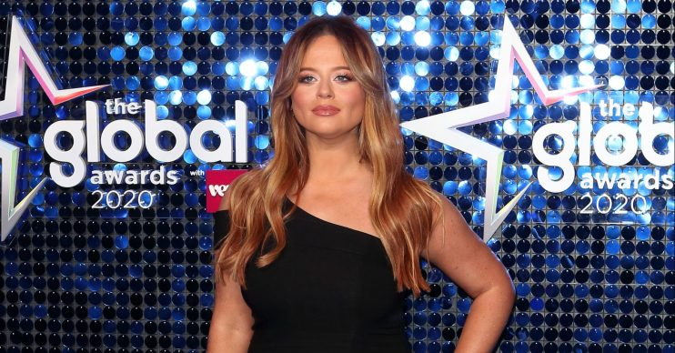 Emily Atack has hit back at a troll who commented about her weight