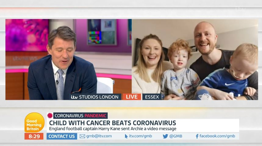 Good Morning Britain meets four-year-old boy with cancer who beat coronavirus
