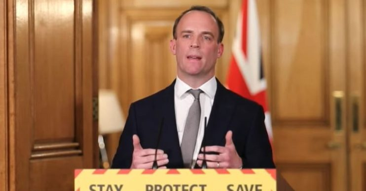 Dominic Raab has set out the government's five key targets before lifting lockdown
