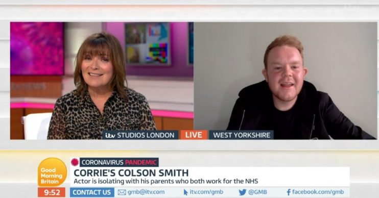 Colson Smith and Lorraine on GMB