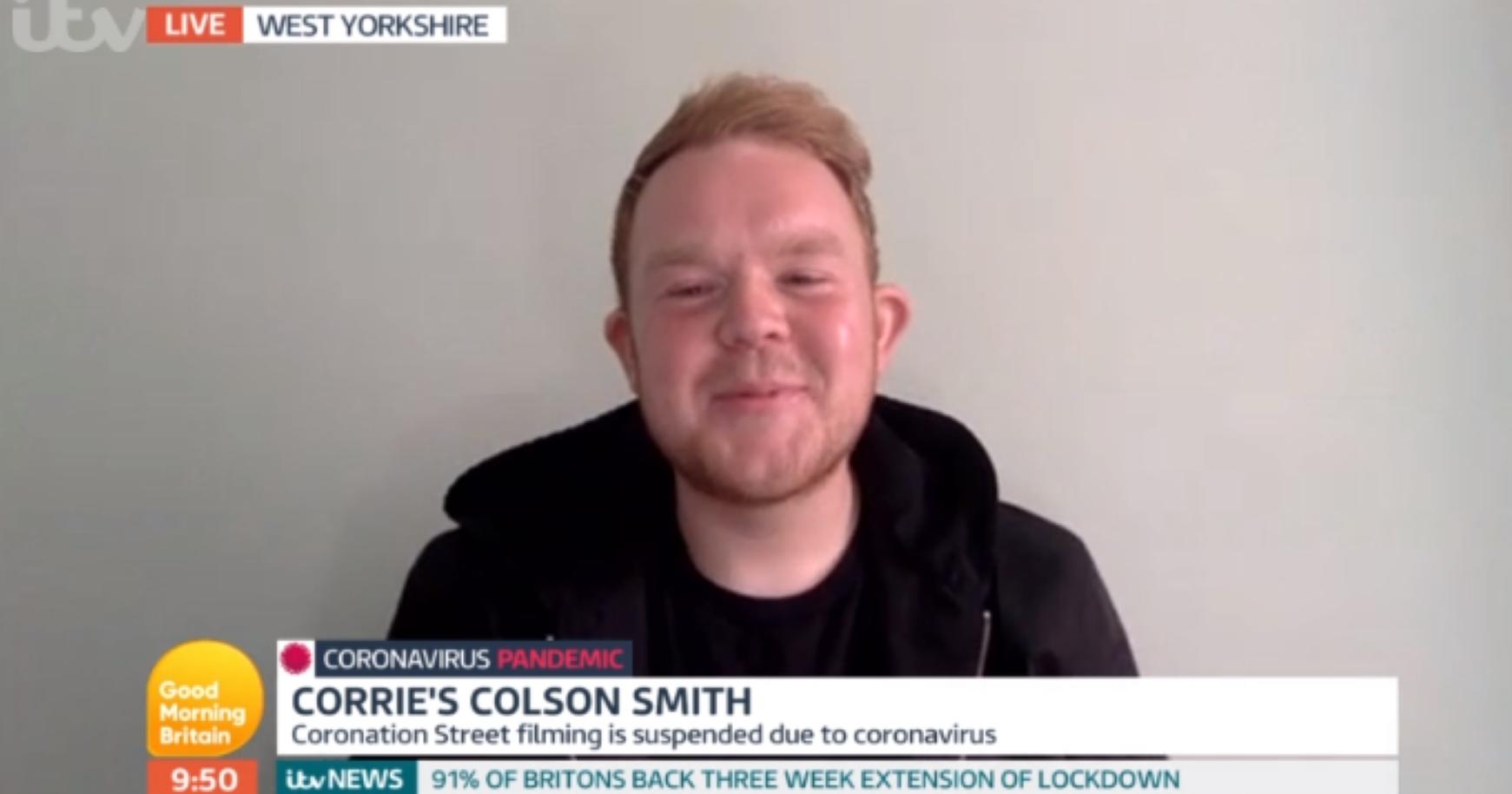 Coronation Street actor Colson Smith hints the soap will write coronavirus scenes