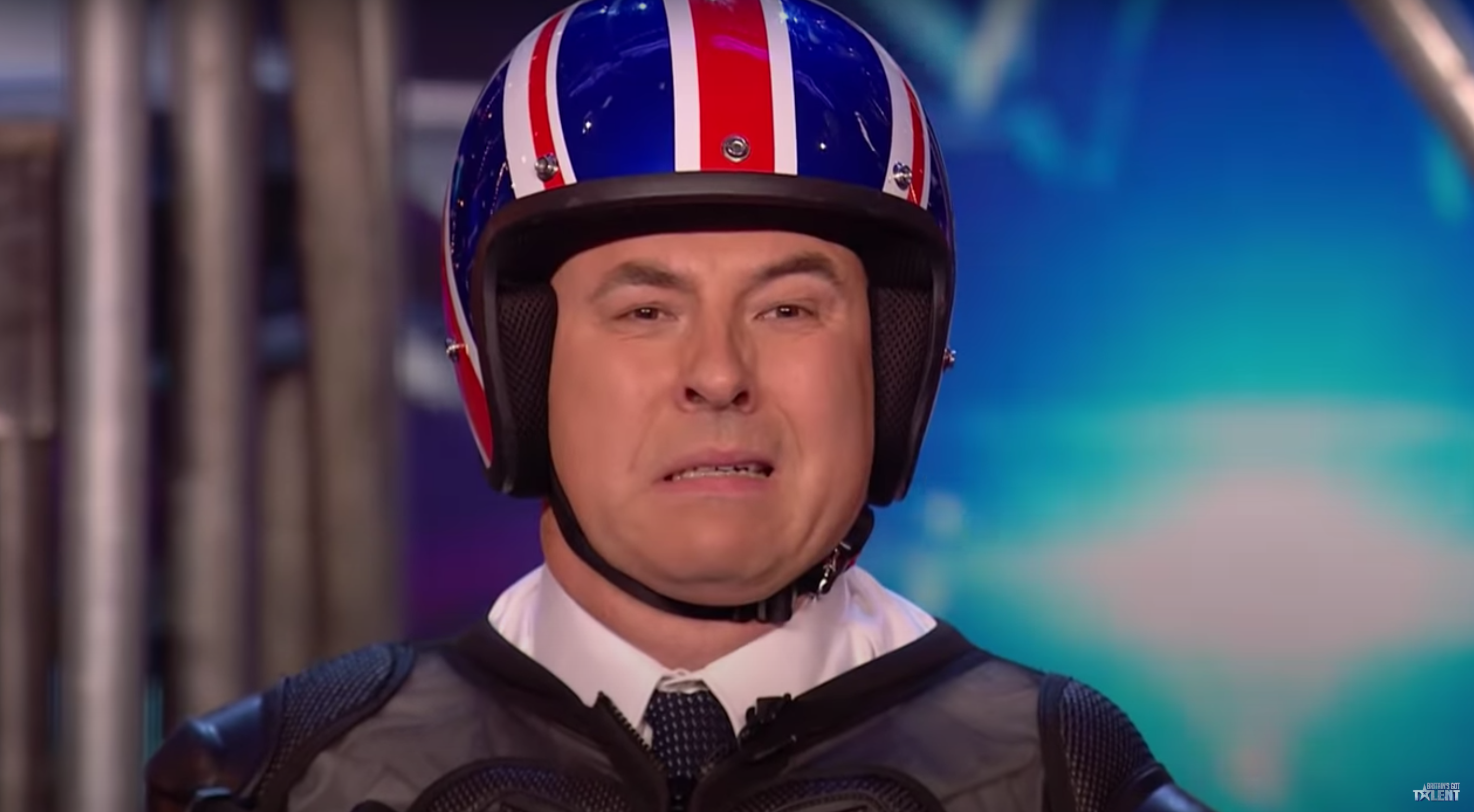 Britain's Got Talent: Declan Donnelly gives David Walliams a very cheeky pat ahead of 'dangerous' stunt