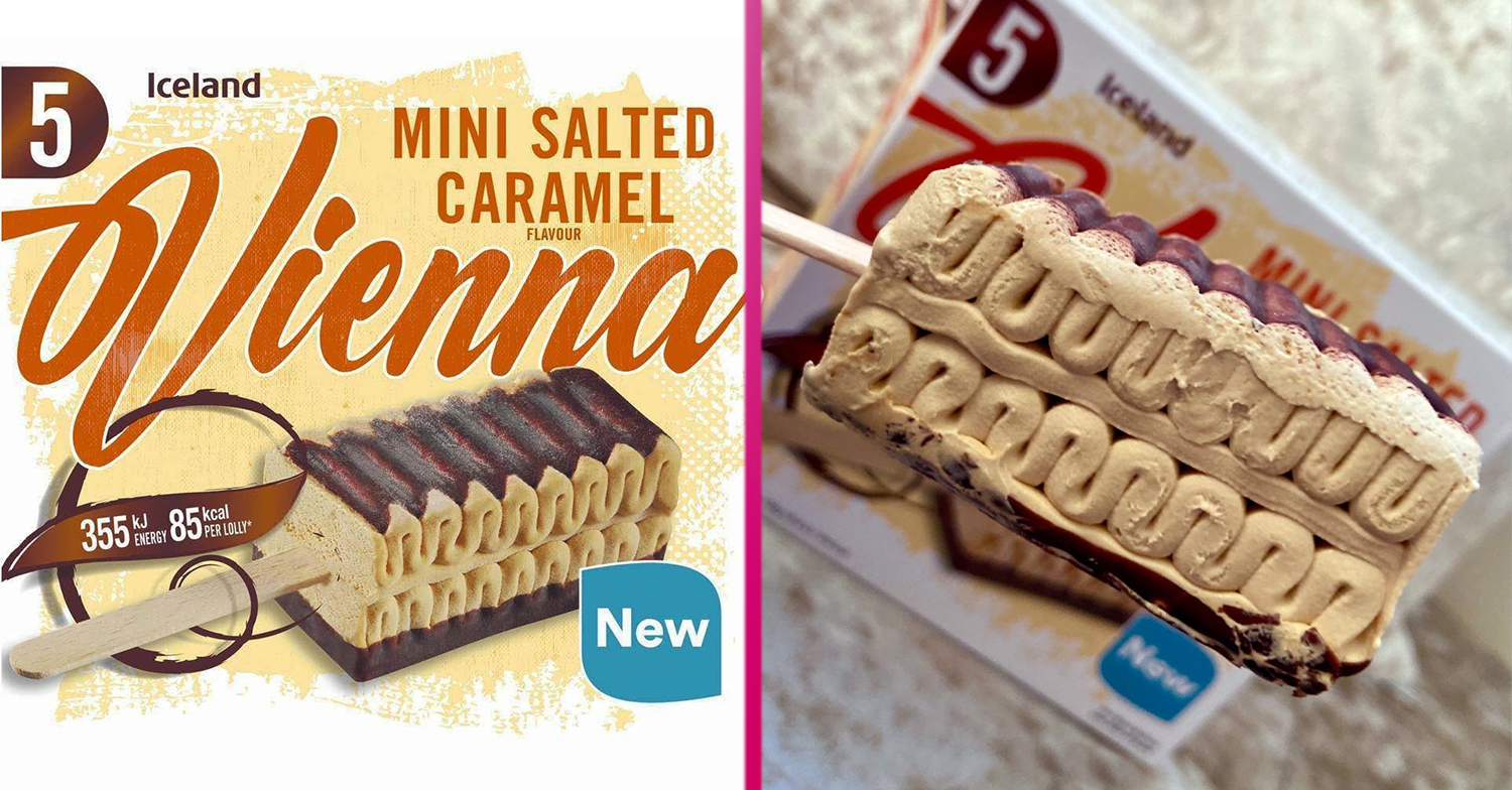 Iceland launches Salted Caramel Viennetta-style ice cream sticks and fans say they're 'beautiful'