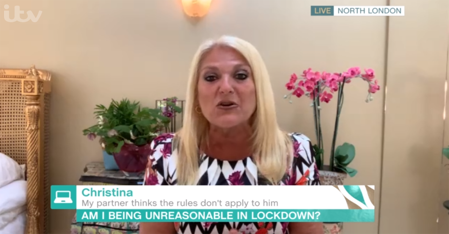 This Morning's Vanessa Feltz slams 'selfish' man who's been going to BBQs amid lockdown