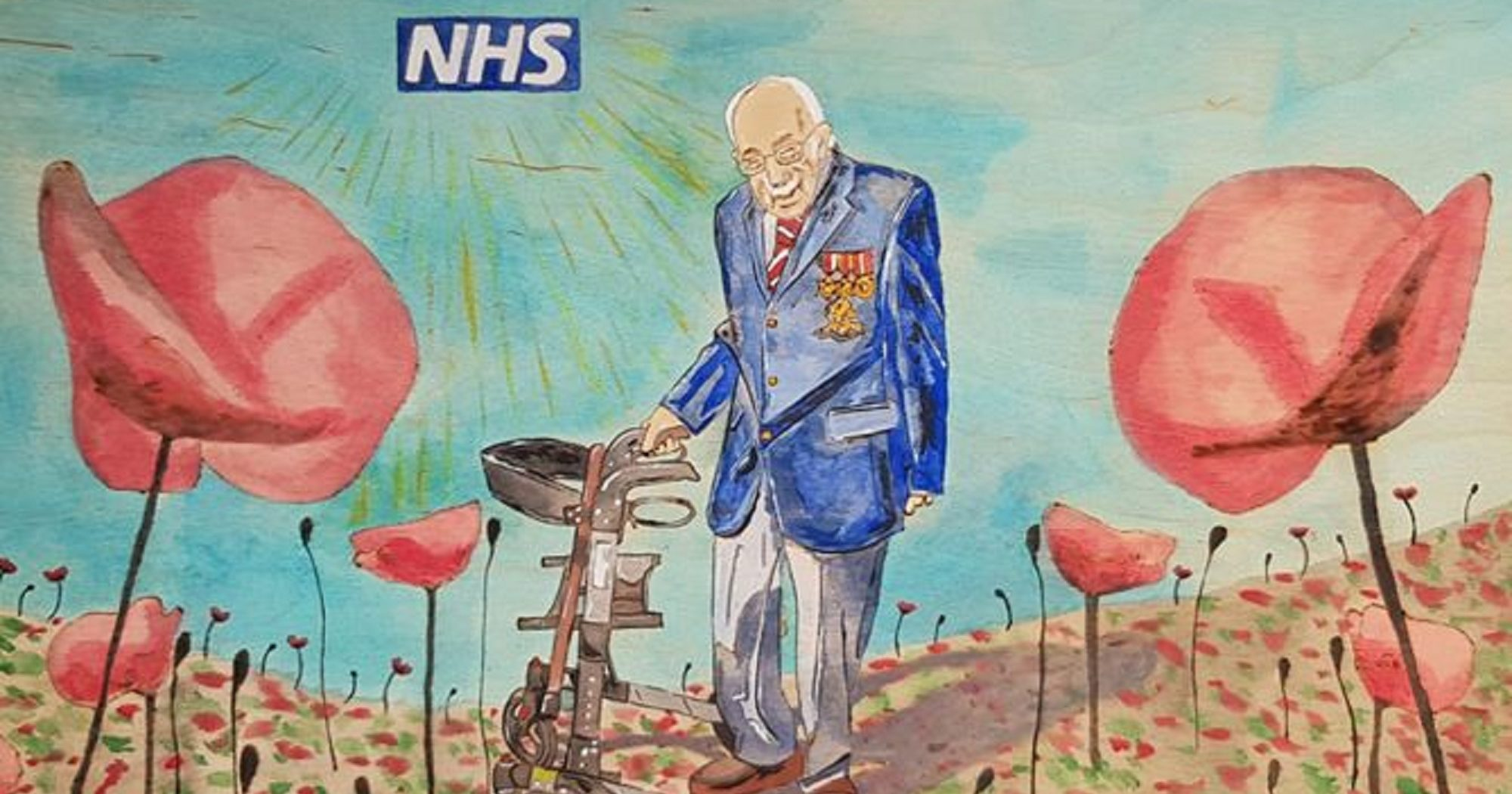 Artist's beautiful tribute to Captain Tom Moore set for raffle to raise more funds for NHS