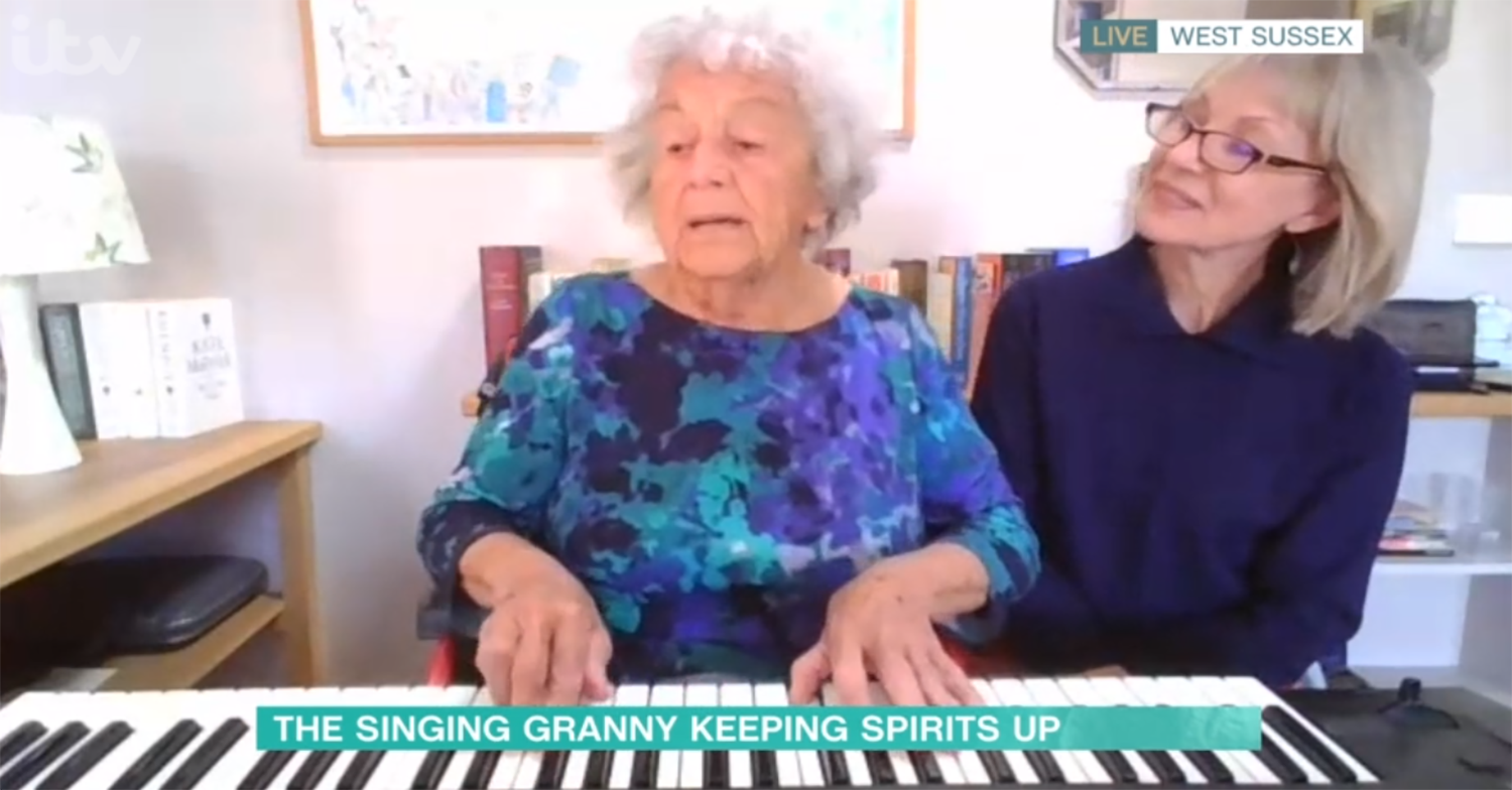 Holly Willoughby giggles as singing grandmother gets interrupted on This Morning