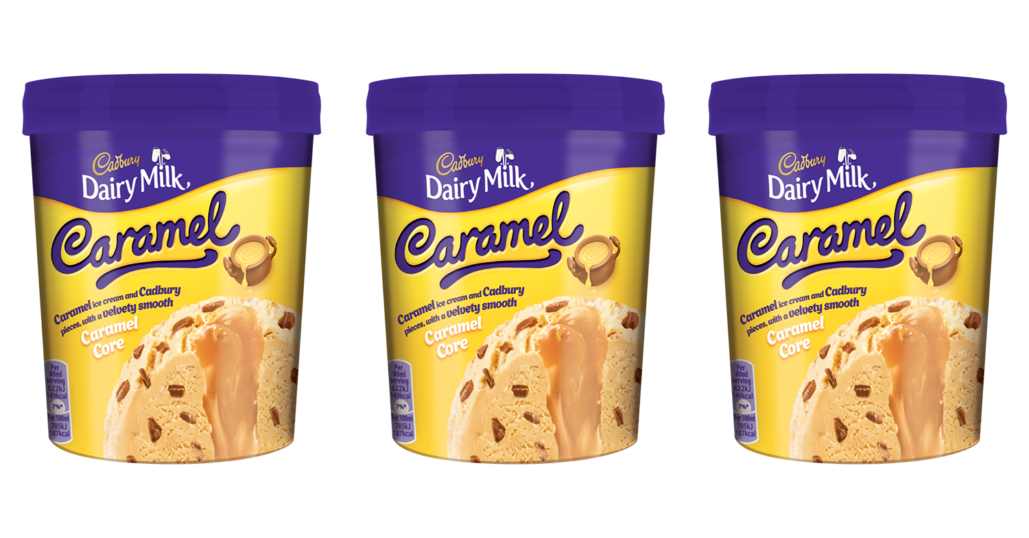 Cadbury launches tubs of Dairy Milk Caramel ice cream and they have a core of oozing caramel