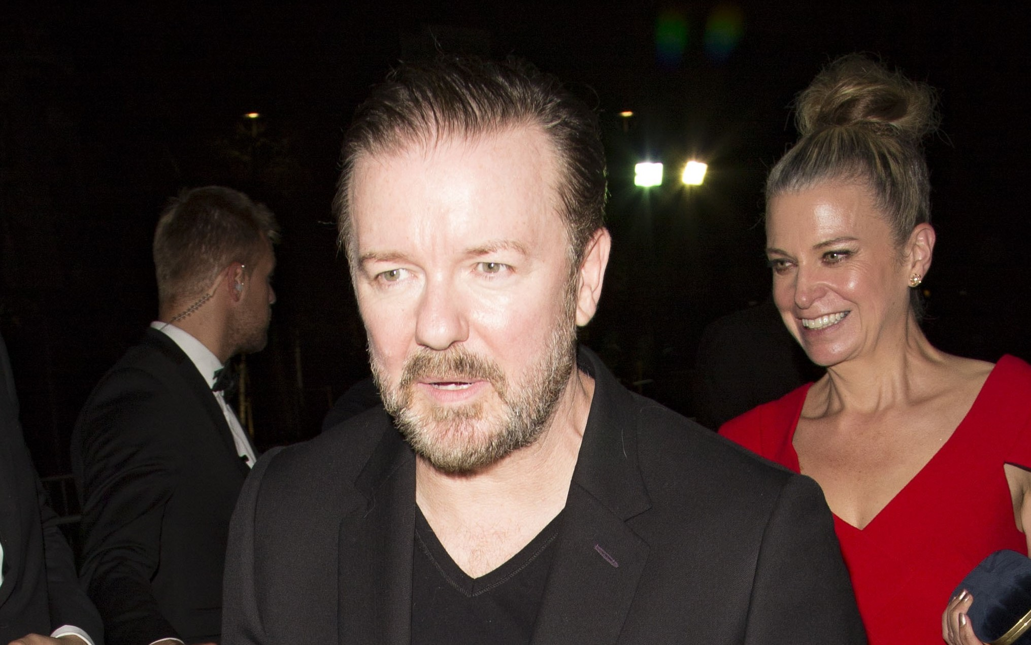 Ricky Gervais risks feud with Beckhams after 'liking negative tweet'