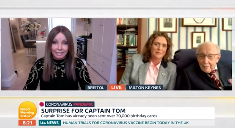 Captain Tom Moore on GMB