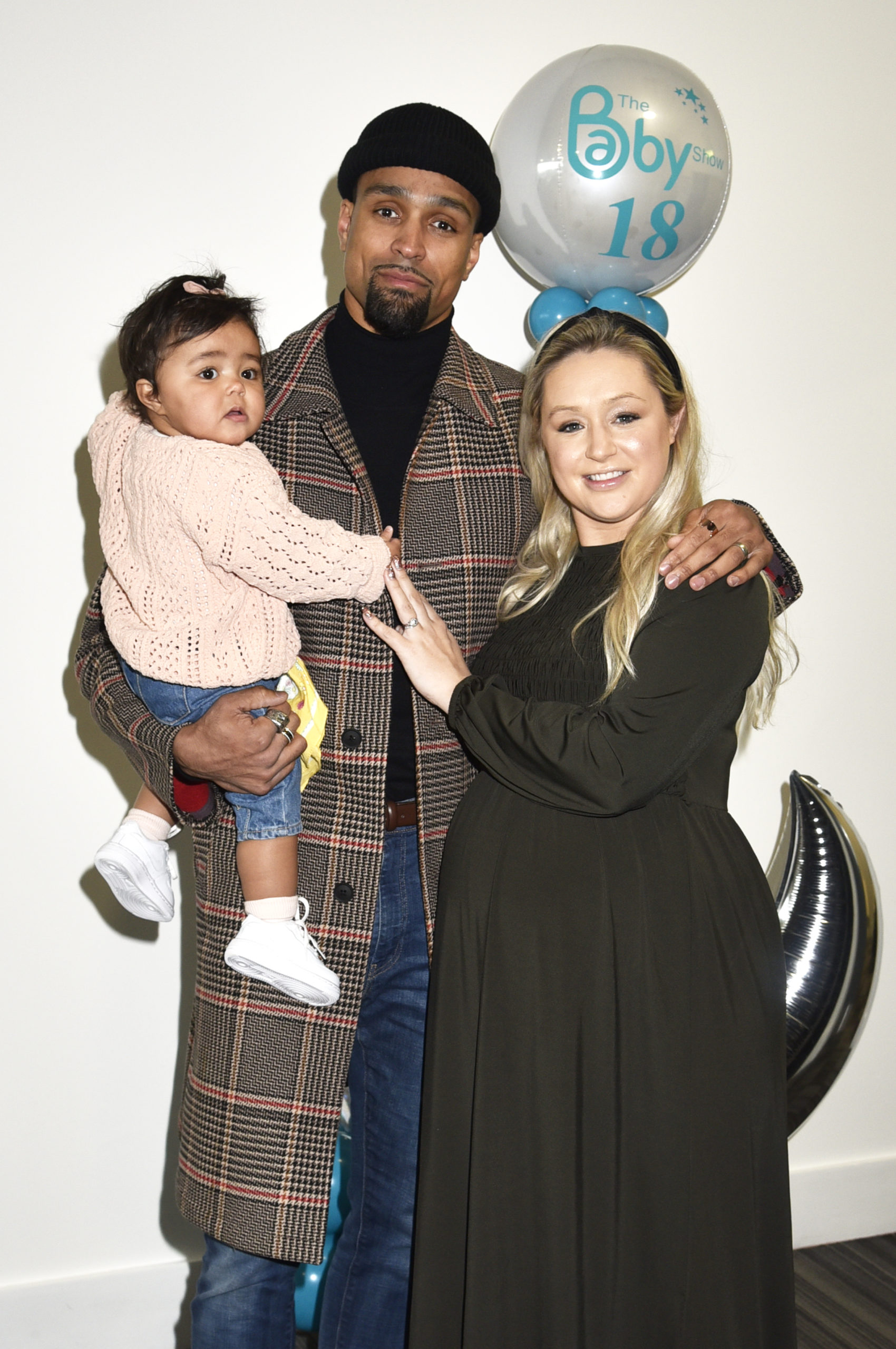 Ashley Banjo, pictured with wife Francesca and daughter Rose, has revealed his new blonde lockdown hair