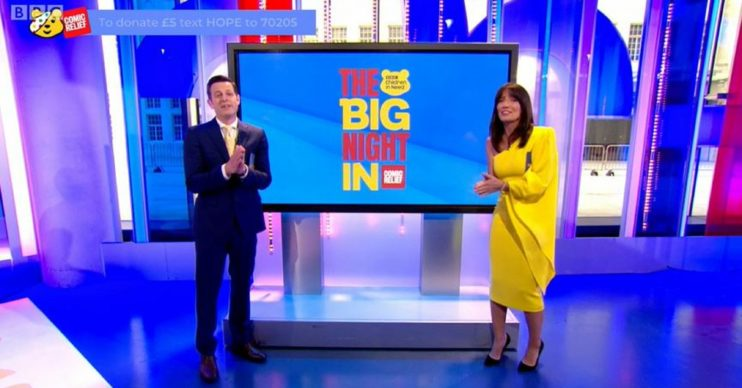 Davina McCall and Matt Baker on The Big Night In