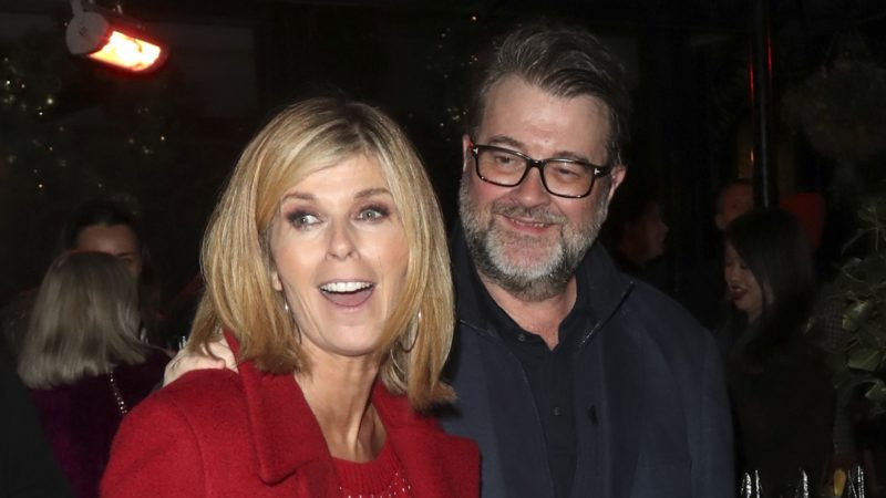 Kate Garraway and Derek Draper at Piers Morgan's Christmas party