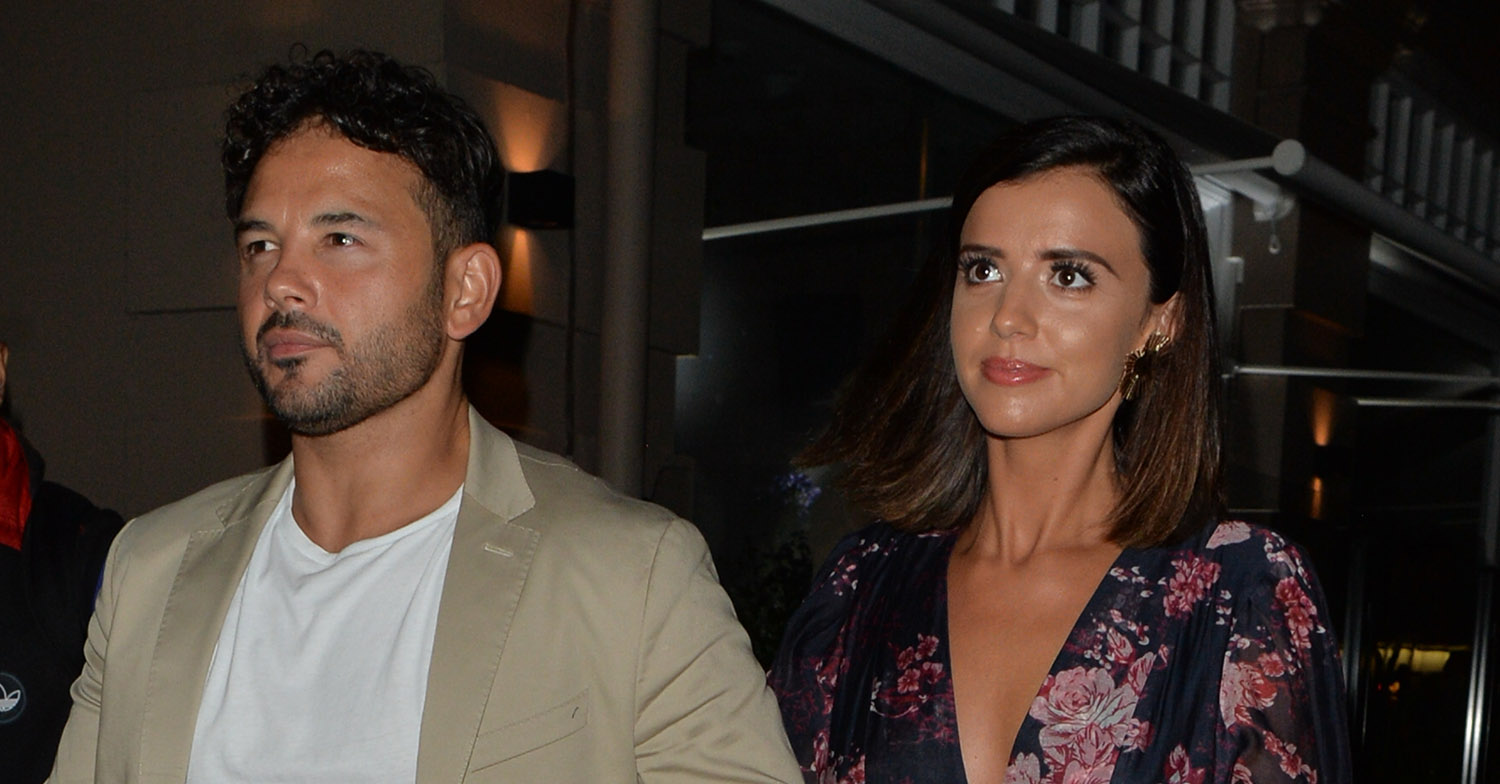 Lucy Mecklenburgh And Ryan Thomas Seen Out And About In Mayfair