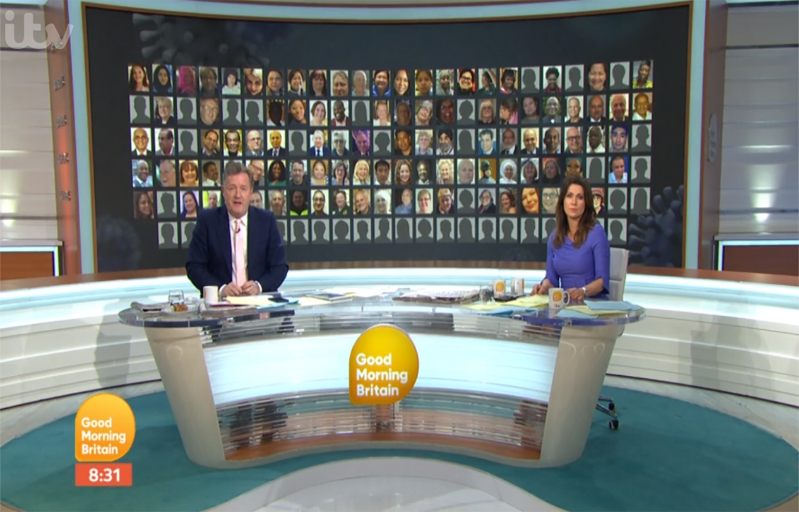 GMB's Piers Morgan and Susanna Reid read out names of 105 NHS staff who died from coronavirus