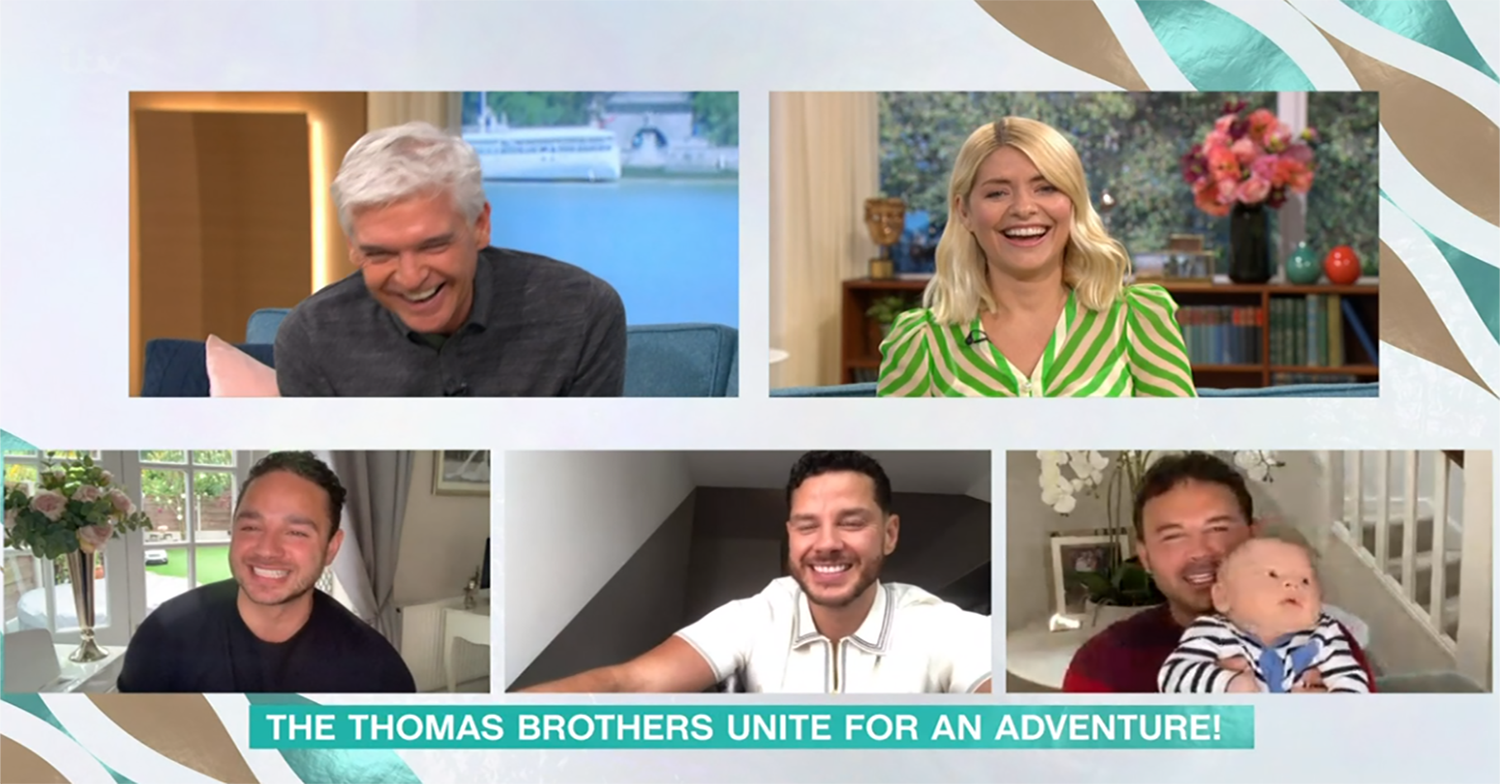 Holly Willoughby gushes as Ryan Thomas' baby son makes first TV appearance on This Morning