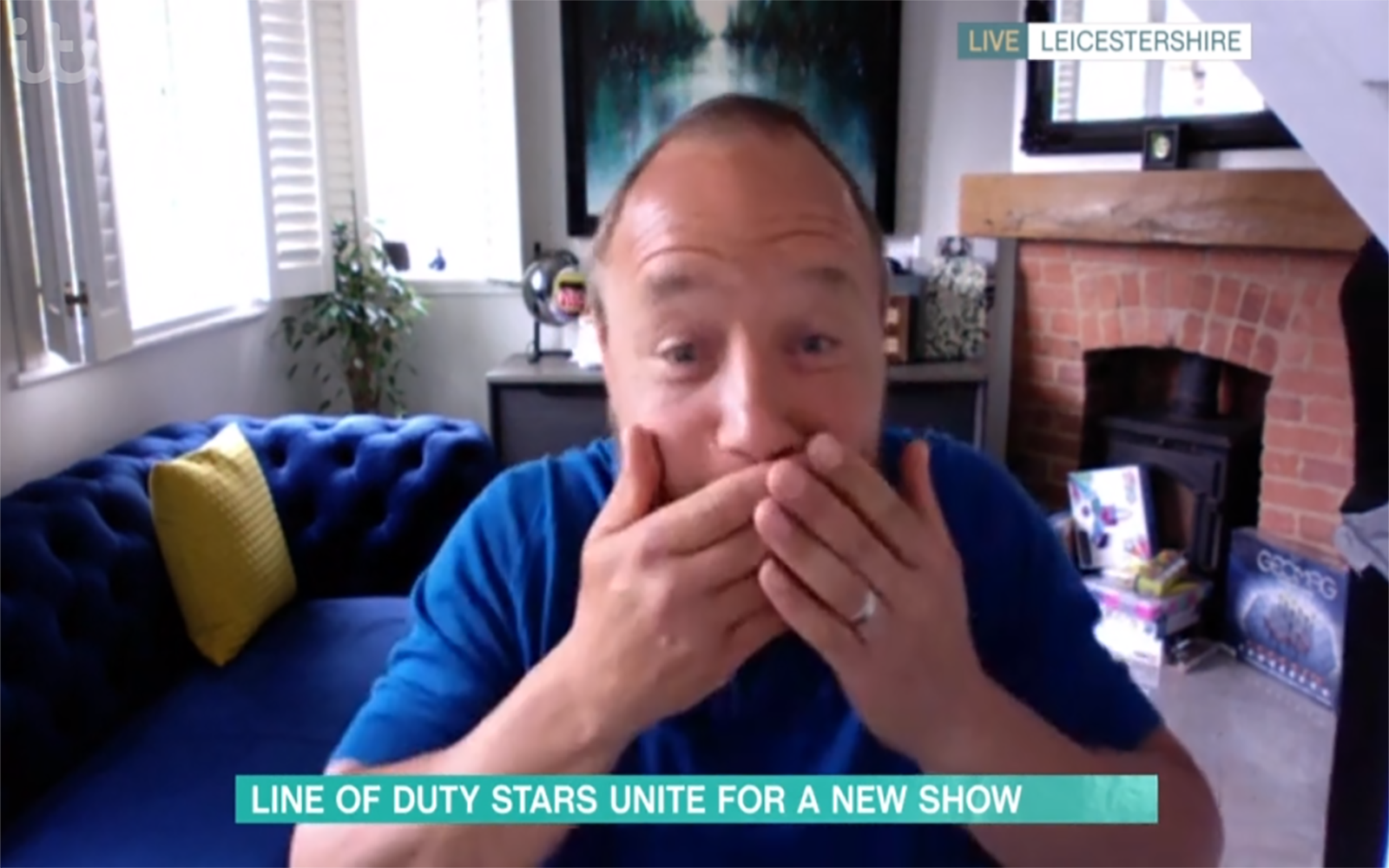 Line of Duty favourite Stephen Graham looks appalled after he swears on This Morning