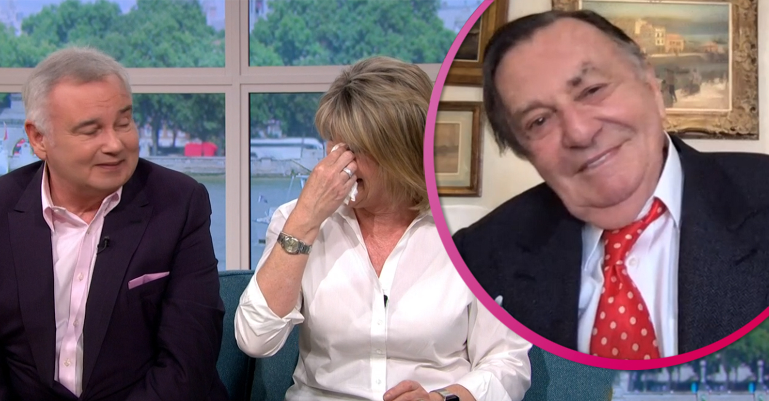 Ruth Langsford cries with laughter as Barry Humphries makes Thomas Markle joke