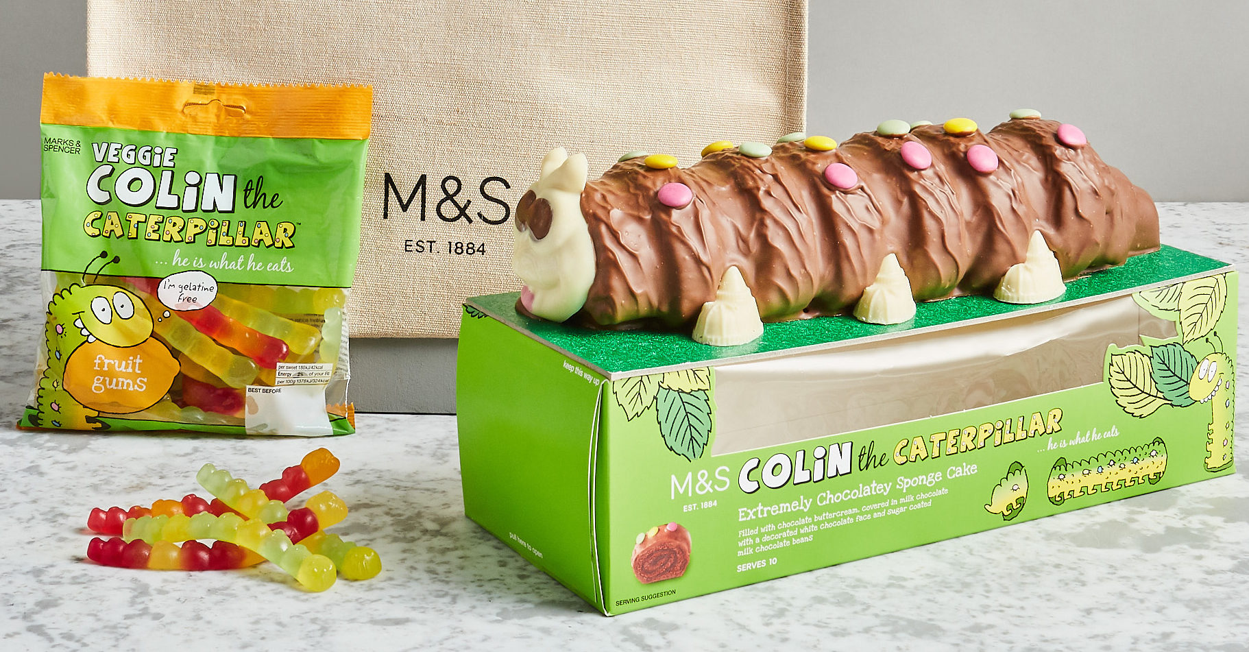 M&S launches birthday cake delivery service – and Colin the Caterpillar is available for home delivery!