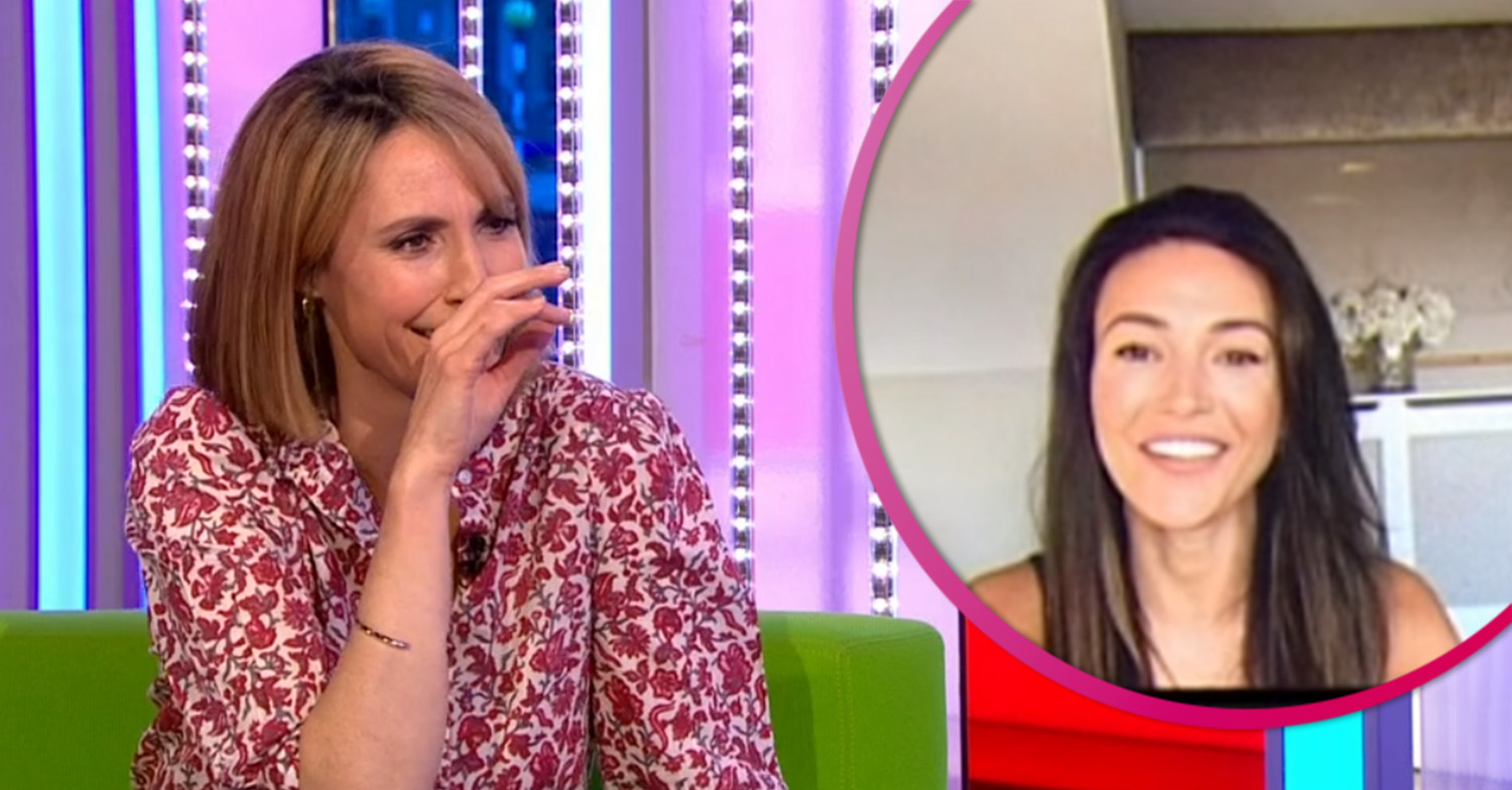 Michelle Keegan leaves The One Show's Alex Jones in stitches with accidental innuendo