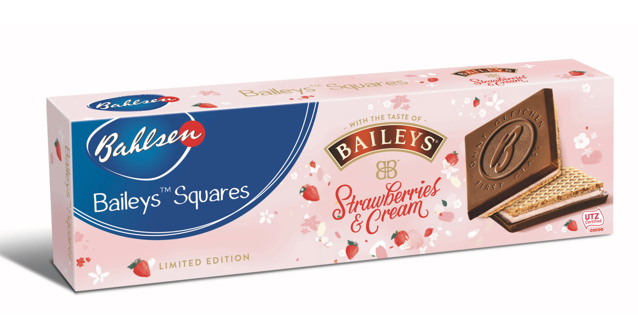 Baileys launches new chocolate-topped Strawberries & Cream liqueur biscuits