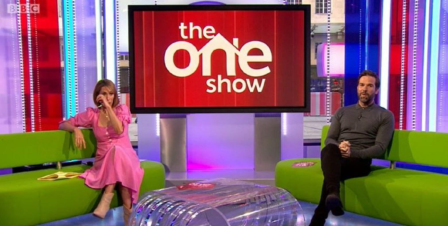 The One Show: Alex Jones reduced to tears as guest Christopher Eccleston performs NHS poem tribute