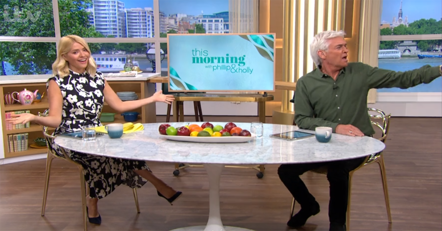 Phillip Schofield ticks off This Morning crew member live on air for technical blunder