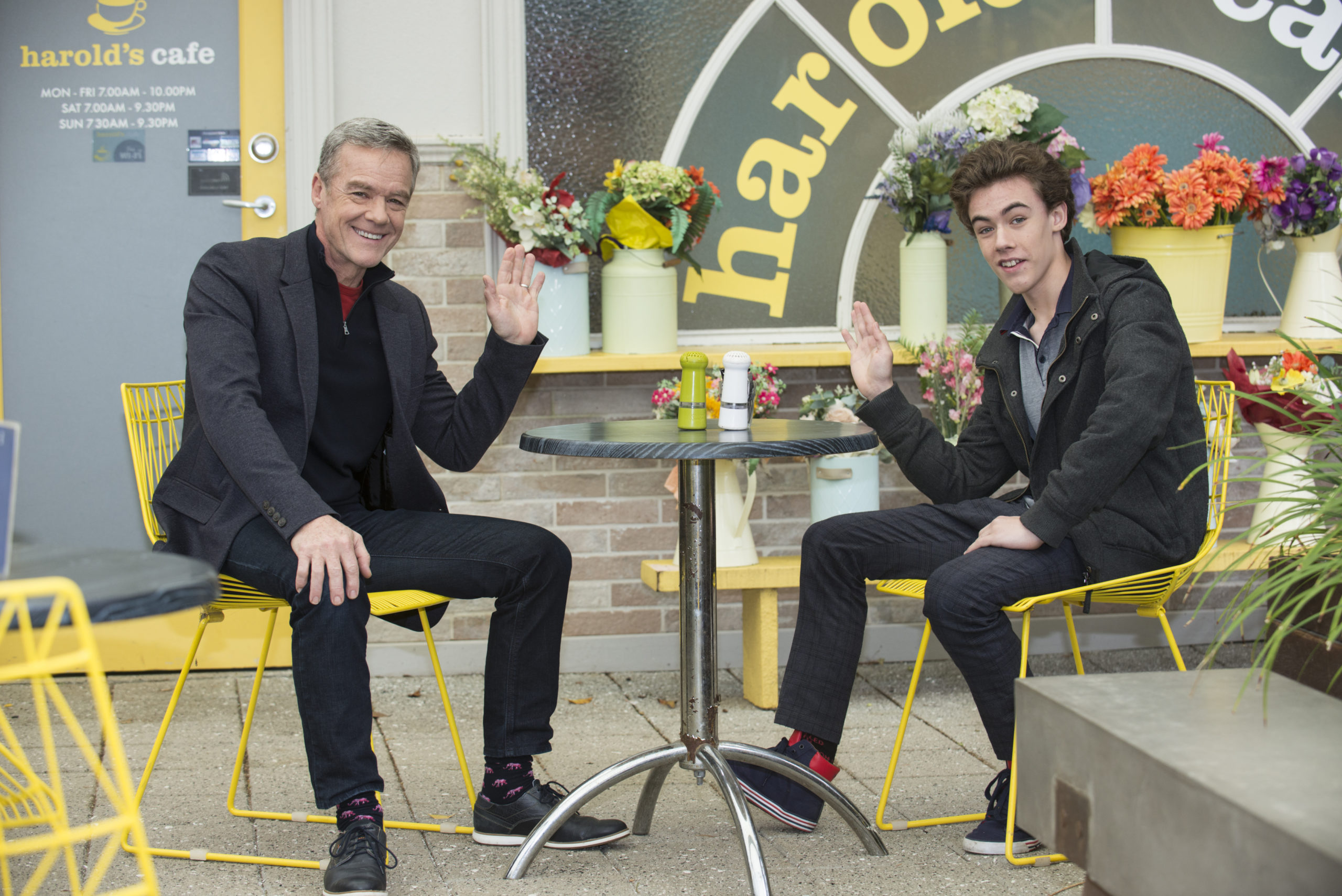 Neighbours legend Stefan Dennis wasn't allowed to see own son on set