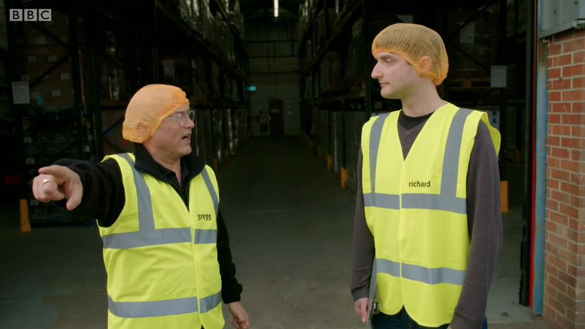 Gregg Wallace on Inside the Factory