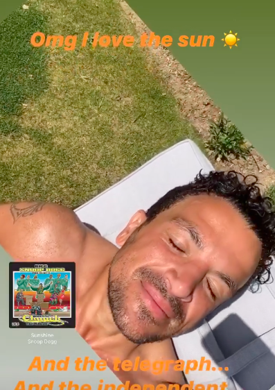peter andre sun