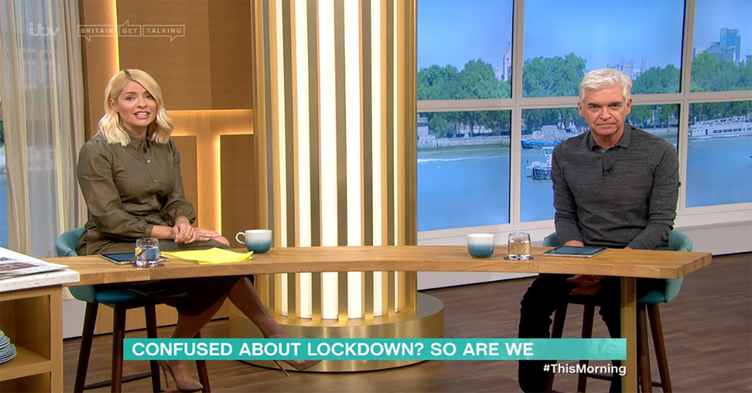 Holly Willoughby and Phillip Schofield slam 'confusing' Boris Johnson lockdown speech