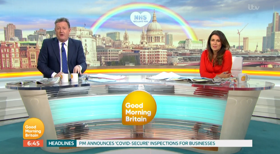Piers Morgan slamming the government on GMB