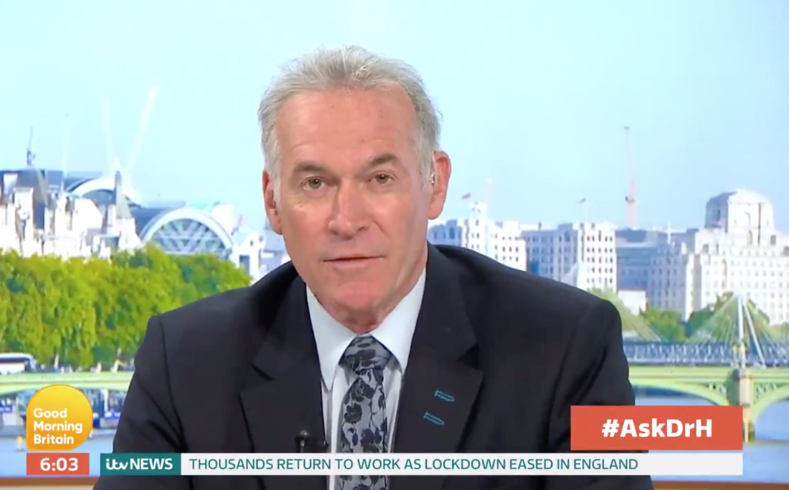 Dr Hilary Jones explains the REAL reason you can't see your family but can go back to work on GMB