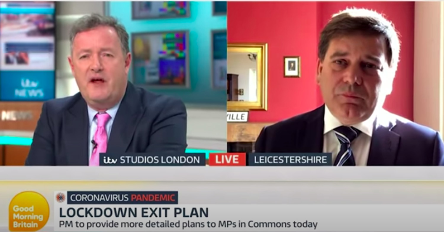Enraged Piers Morgan bets MP Andrew Bridgen 10k that he won't 'be sacked by Christmas'