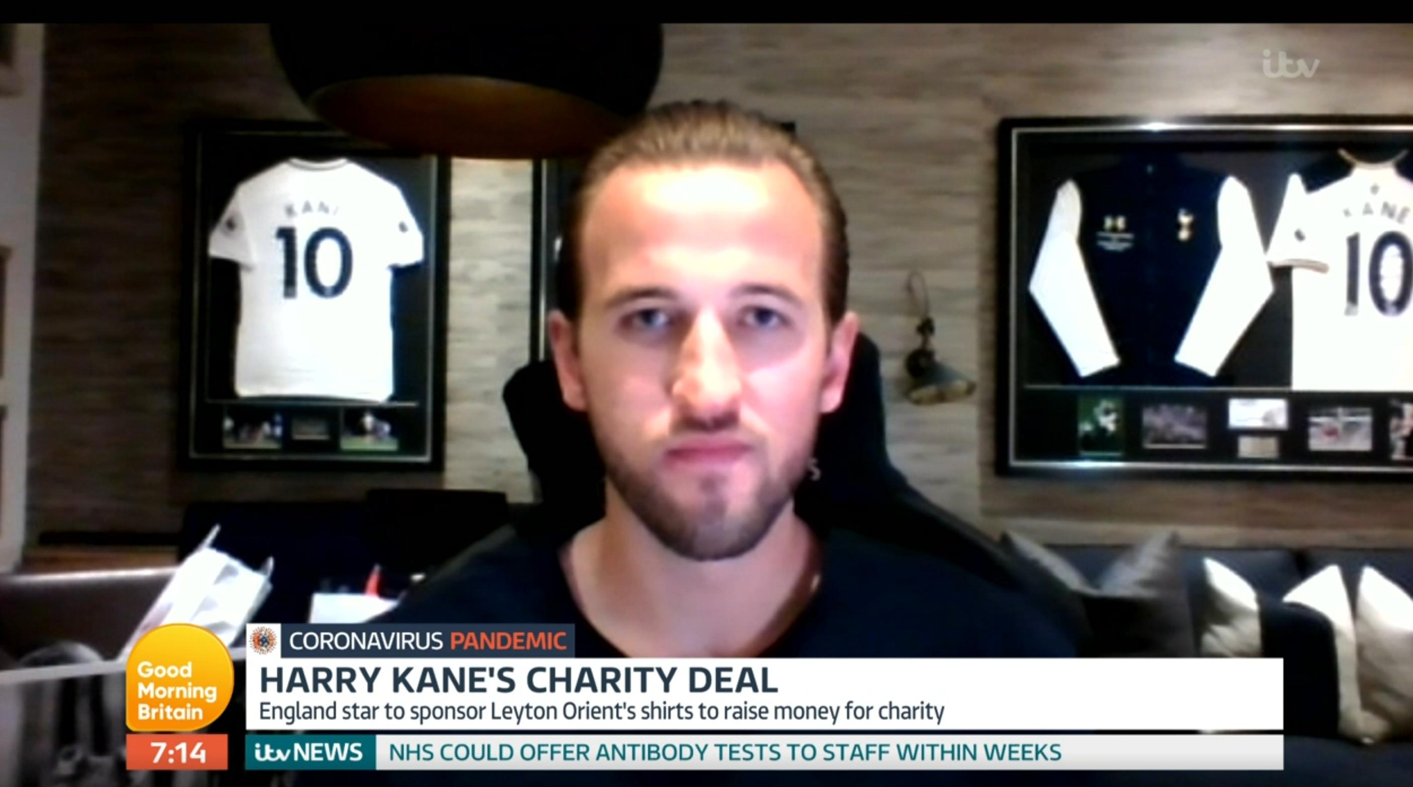 Harry Kane GMB (Credit: ITV)