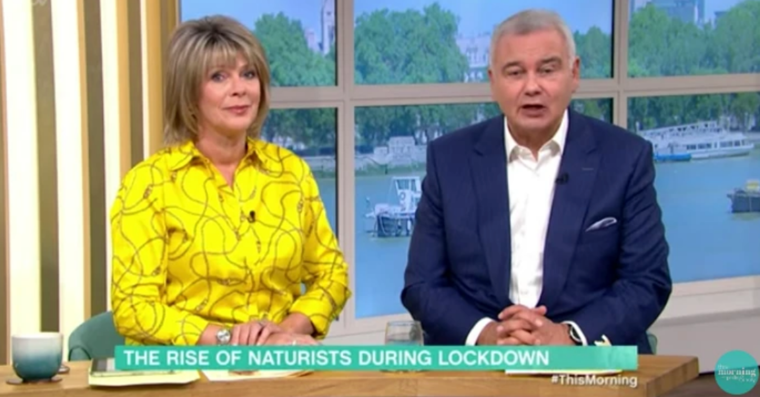 Eamonn Holmes vows to strip off this Sunday after meeting naturists